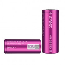 Flat Top 4200mAh 50A IMR 26650 Efest Battery