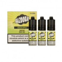Green Sour Apple Straws 10ml by Bazooka E-Liquid