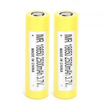 LG 2500mAh HE4 FLAT TOP 18650 Battery-2x
